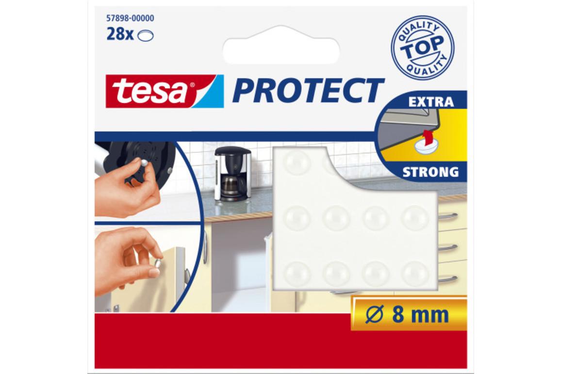 Lärmstopper Tesa 8mm rund farblos, Art.-Nr. 57898 - Paterno B2B-Shop