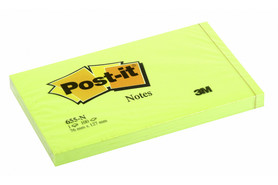 Haftnotizen Post-it 127x76 mm Neon, Art.-Nr. 655NEON