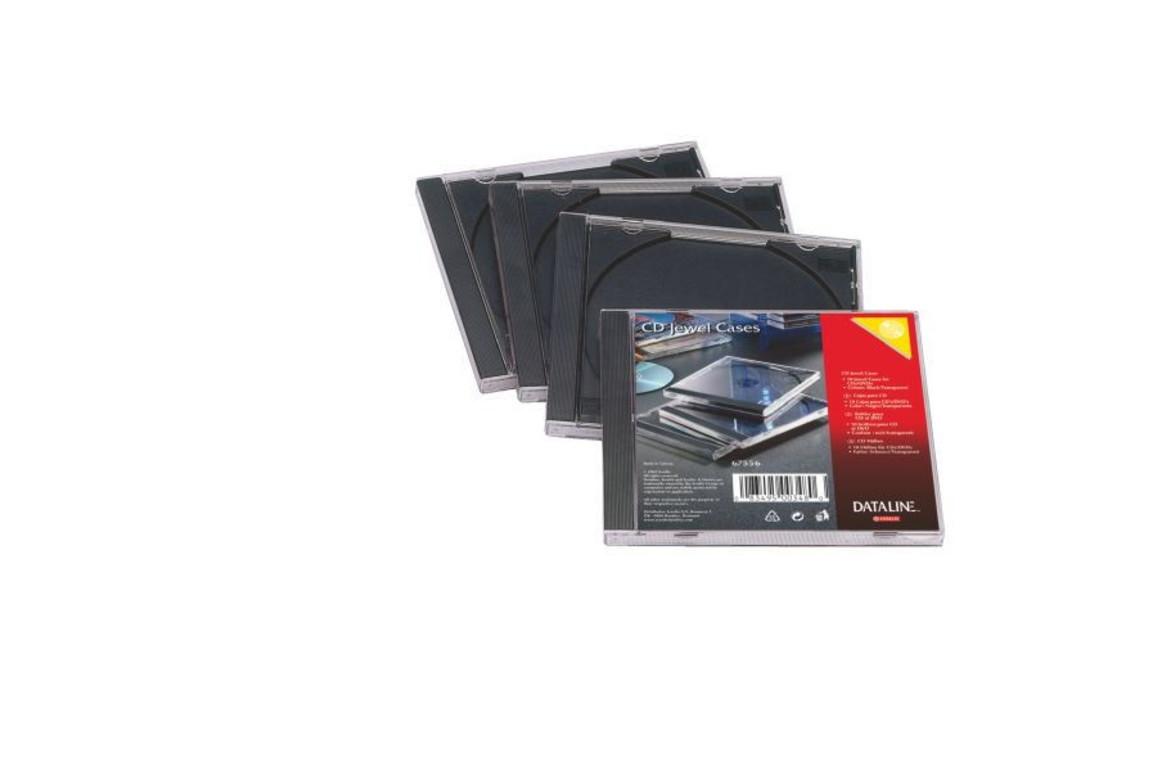 Hüllen CD Jewelcase transparent/schwarz, Art.-Nr. 67556 - Paterno B2B-Shop