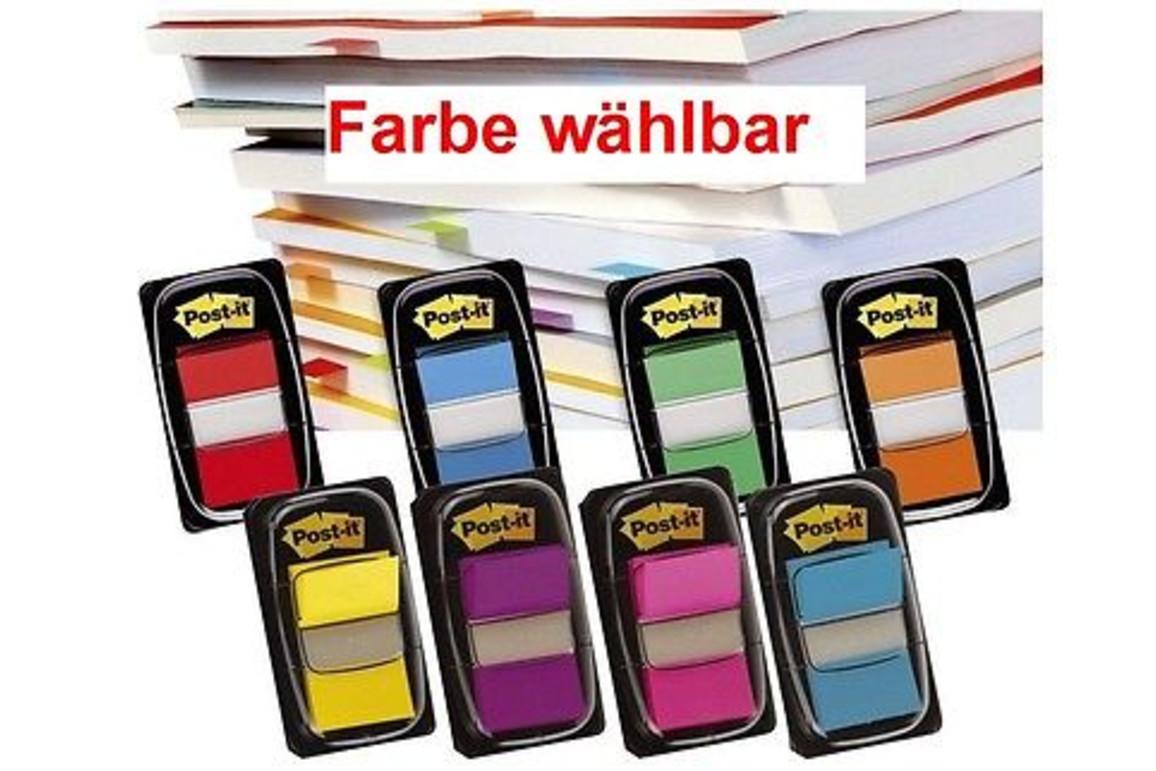 Haftstreifen Post-it Index 25,4x43,7mm türkis, Art.-Nr. 680-TUE - Paterno B2B-Shop