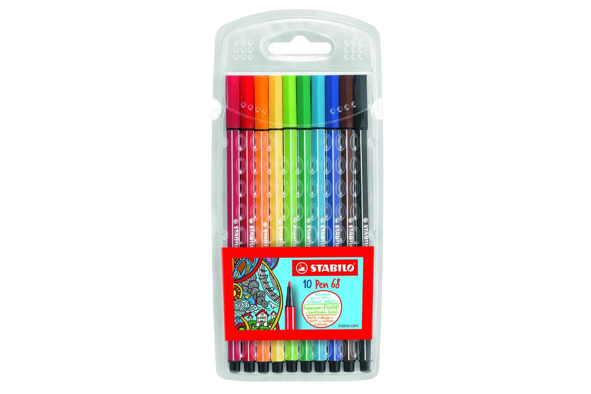 Faserschreiber Stabilo PEN 68 10er, Art.-Nr. 6810-PL - Paterno B2B-Shop