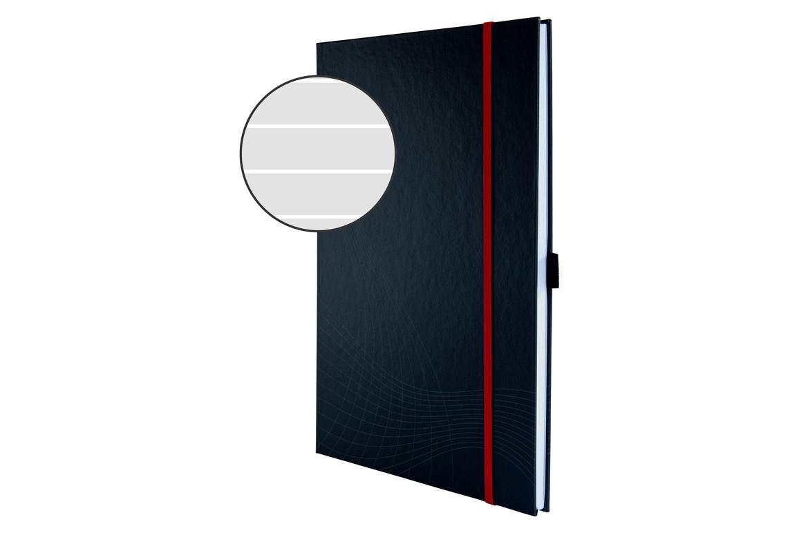 Notizbuch Notizio Hardcover A4 liniert grau, Art.-Nr. 7028ZWF - Paterno B2B-Shop