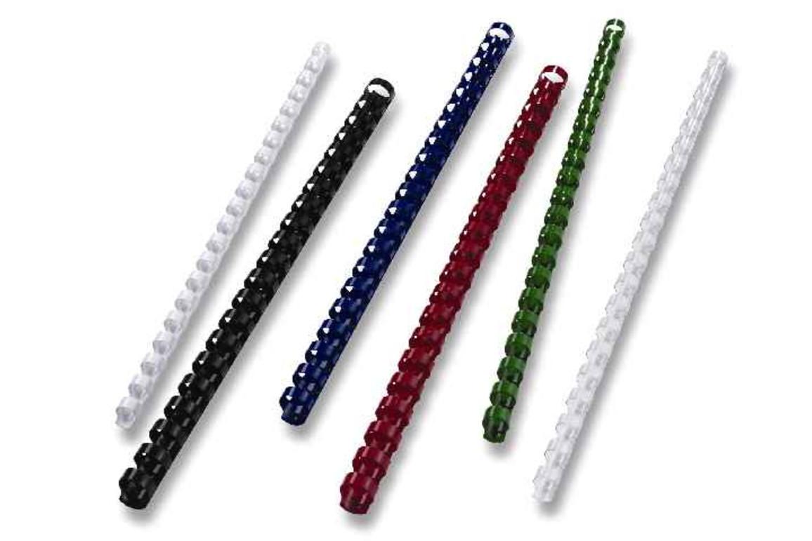 Plastikbinderücken A4 6 mm rund weiss, Art.-Nr. BR21U06-WS - Paterno B2B-Shop
