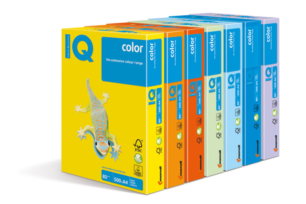 Kopierpapier IQ Color kanariengelb CY39 A3 80 gr., Art.-Nr. IQC380-I-CY39 - Paterno B2B-Shop