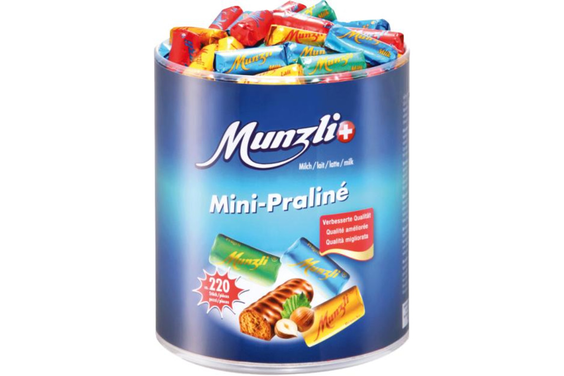Munzli Mini-Praline mit Pralinefüllung, Art.-Nr. 01240 - Paterno B2B-Shop