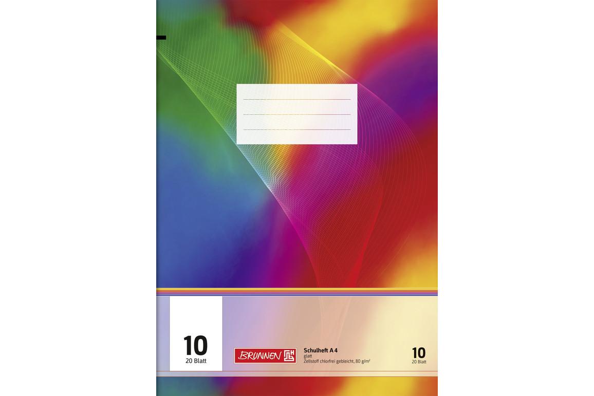 Heft Brunnen A4 20 Blatt kariert mit Rahmen, Art.-Nr. 026442-14RM - Paterno B2B-Shop
