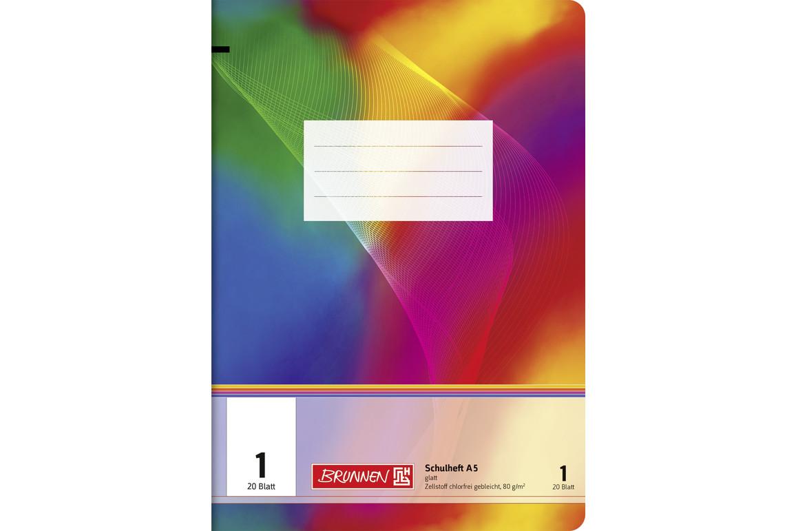 Heft Brunnen A5 20 Blatt kariert mit Rahmen, Art.-Nr. 0264529-4RM - Paterno B2B-Shop