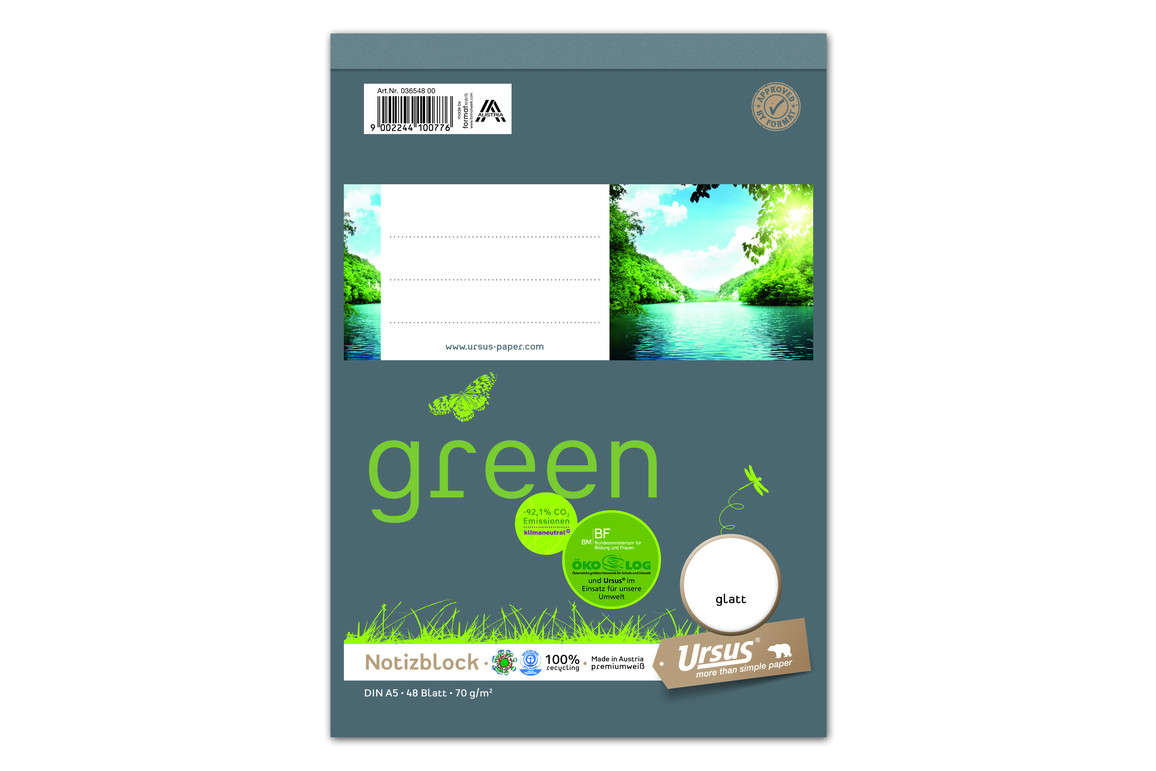 Notizblock Format X A5 48 Bl. glatt, Art.-Nr. 036548-00 - Paterno B2B-Shop