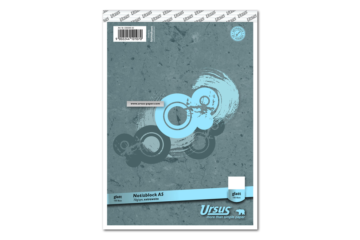 Notizblock Format X A5 96 Bl. lin., Art.-Nr. 036596-10 - Paterno B2B-Shop