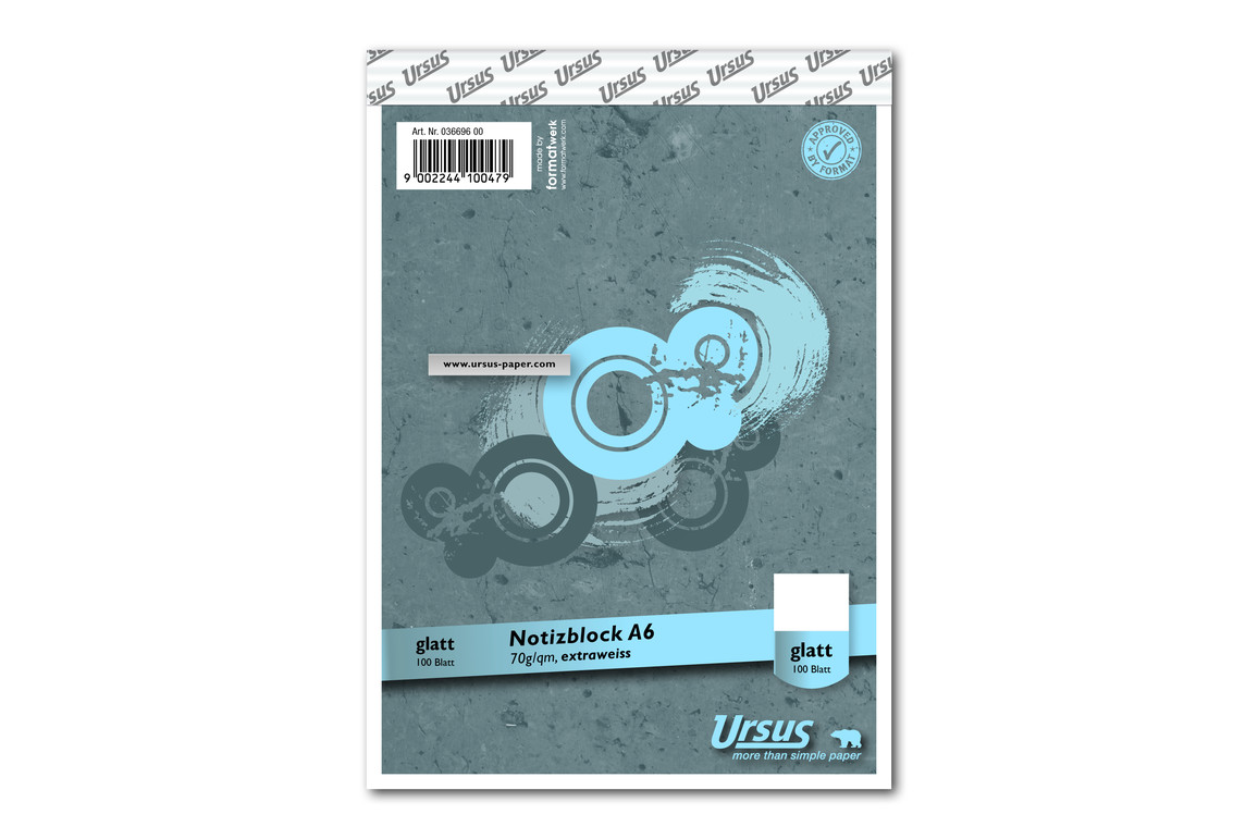 Notizblock Format X A6 96 Bl. kar., Art.-Nr. 036696-20 - Paterno B2B-Shop