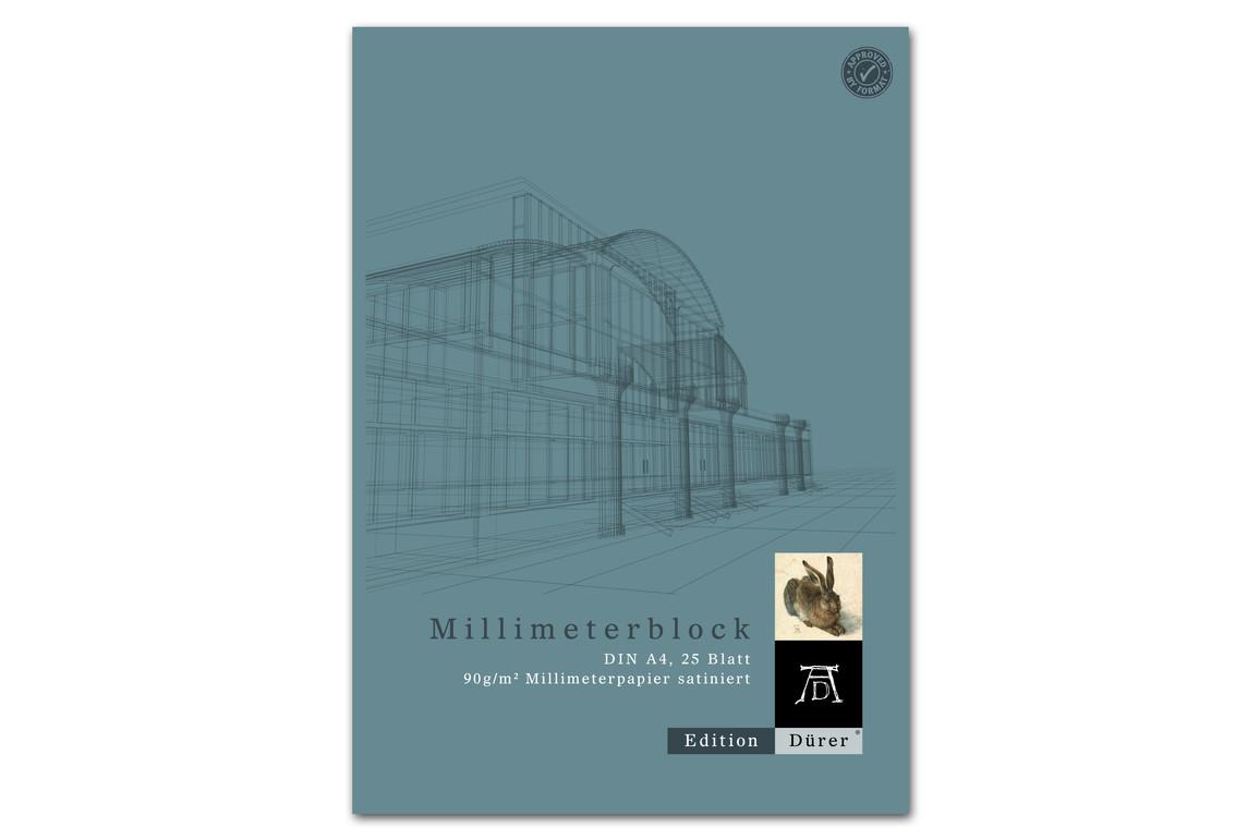 Millimeterpapierblock A4 25 Blatt 90g/qm Format X, Art.-Nr. 036700014 - Paterno B2B-Shop