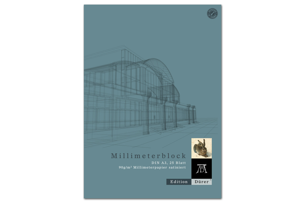 Millimeterpapierblock A3 25 Blatt 90g/qm Format X, Art.-Nr. 036710014 - Paterno B2B-Shop