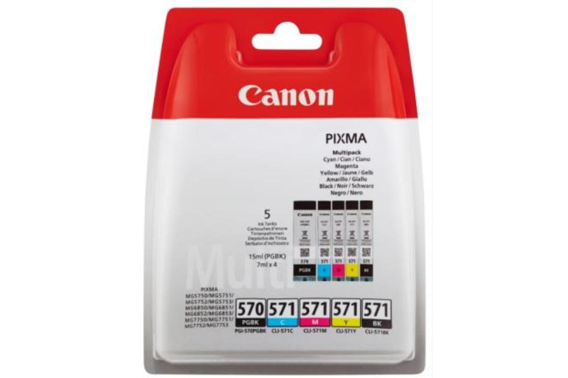Canon Ink Multi Pack PGI570 PGBK CLI571 C/M/Y/BK je 7ml, Art.-Nr. 0372C004 - Paterno B2B-Shop