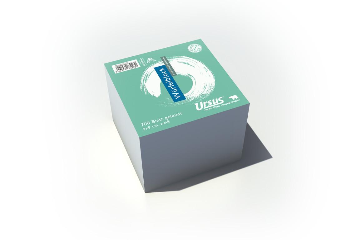 Würfelblock Ursus 9x9x9 cm, Art.-Nr. 039005 - Paterno B2B-Shop