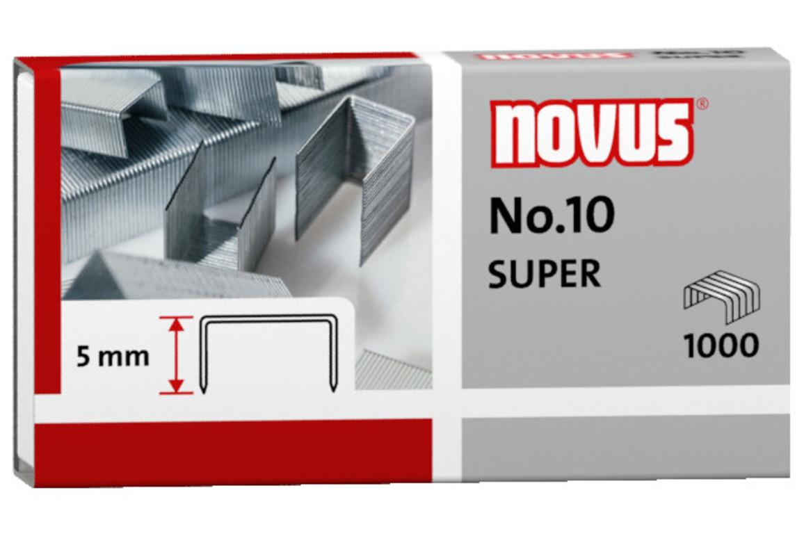 Heftklammern Novus Nr.10 verzinkt, Art.-Nr. 040-0003 - Paterno B2B-Shop