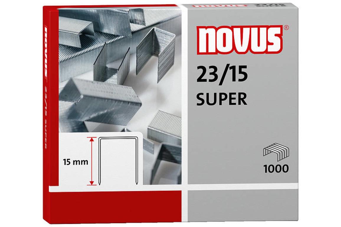 Heftklammern Novus 23/15 Stahldraht, Art.-Nr. 0420044 - Paterno B2B-Shop