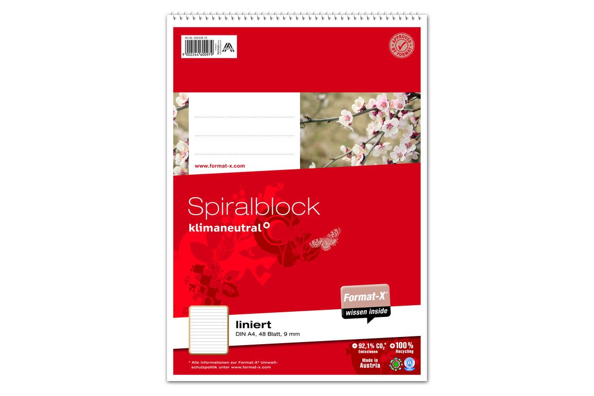 Spiralblock Format X A4 48 Bl.  lin., Art.-Nr. 042448-10 - Paterno B2B-Shop