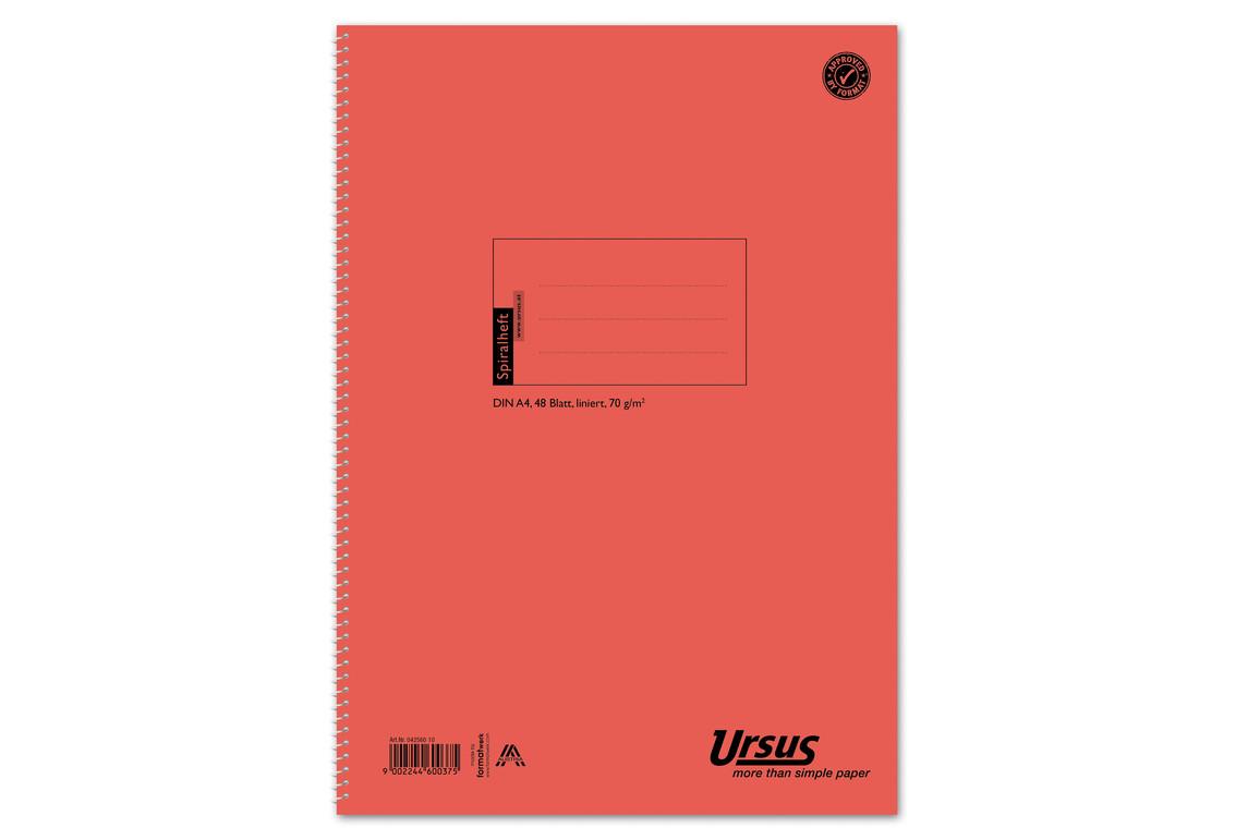 Spiralheft Ursus A4 48 Bl. lin., Art.-Nr. 042560-10 - Paterno B2B-Shop