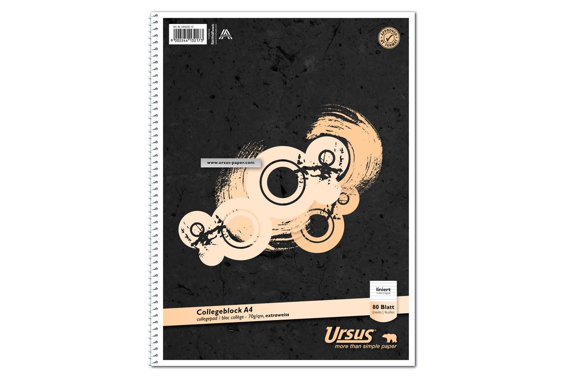 Kollegblock Ursus A4 80 Blatt liniert, Art.-Nr. 044330-10 - Paterno B2B-Shop