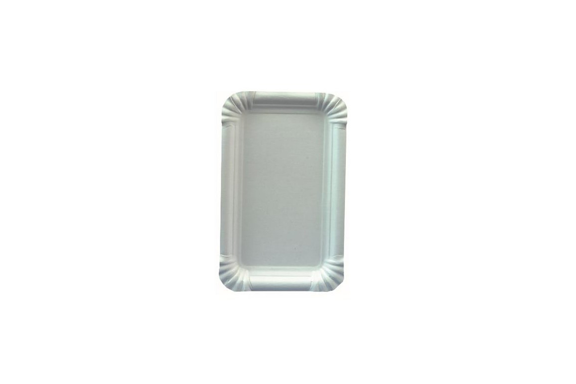 Pappteller 10 x 16 cm weiß, Art.-Nr. 05148 - Paterno B2B-Shop