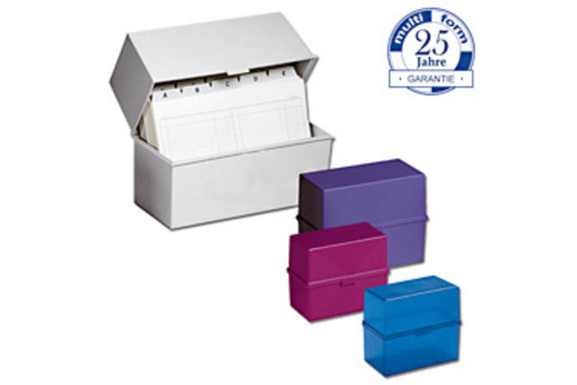 Karteikassette Multiform A7 himbeertransparent, Art.-Nr. 0516-HTR - Paterno B2B-Shop
