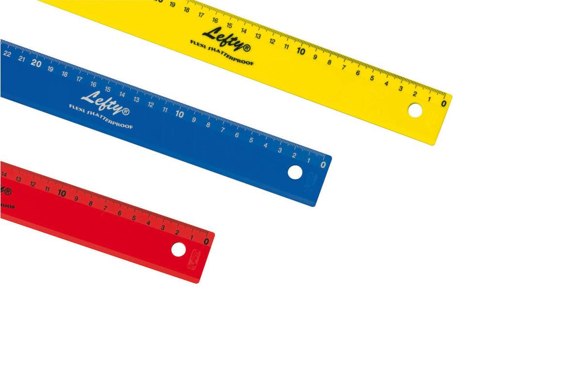 Lineal 30 cm Wedo farbig Linkshändler, Art.-Nr. 05235 - Paterno B2B-Shop