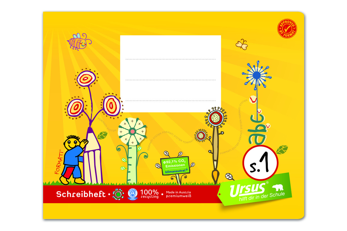 Heft Formati S1 A5 quer 20 Bl. lin., Art.-Nr. 060532082 - Paterno B2B-Shop