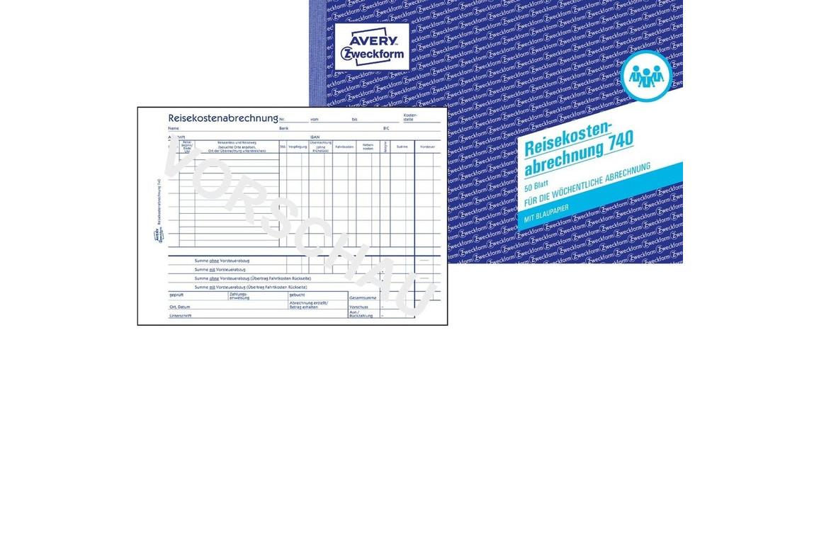 Reisekostenbuch DIN  A5 quer 50 Blatt, Art.-Nr. 0740ZWF - Paterno B2B-Shop