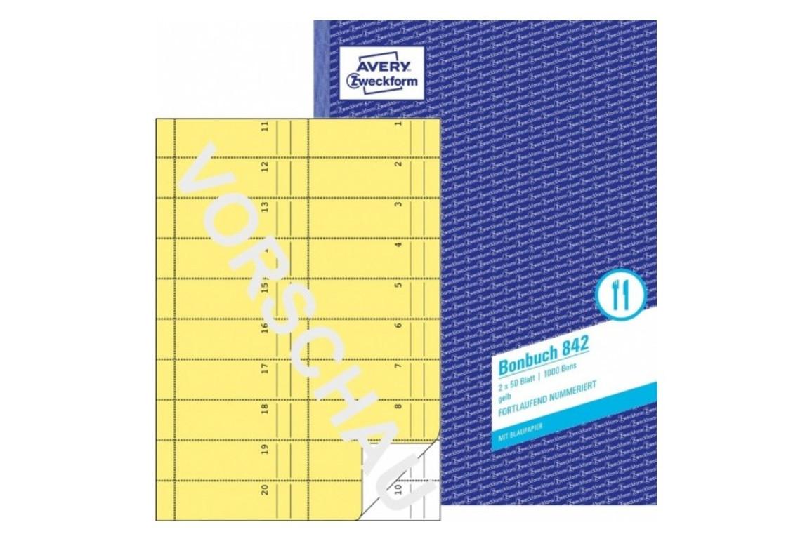 Bonbuch ZWF A4, Art.-Nr. 0842ZWF - Paterno B2B-Shop