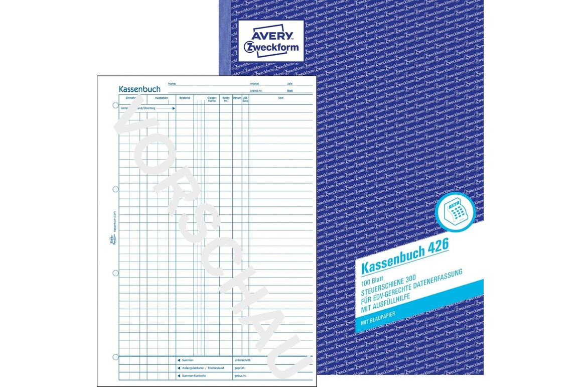 Kassabuch für EDV  A4 hoch, Art.-Nr. 0426ZWF - Paterno B2B-Shop