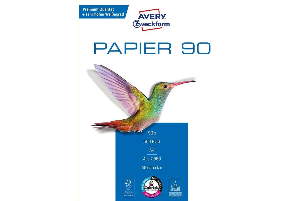 Kopierpapier ZWF A4 90 gr wweiss, Art.-Nr. 2563ZWF - Paterno B2B-Shop
