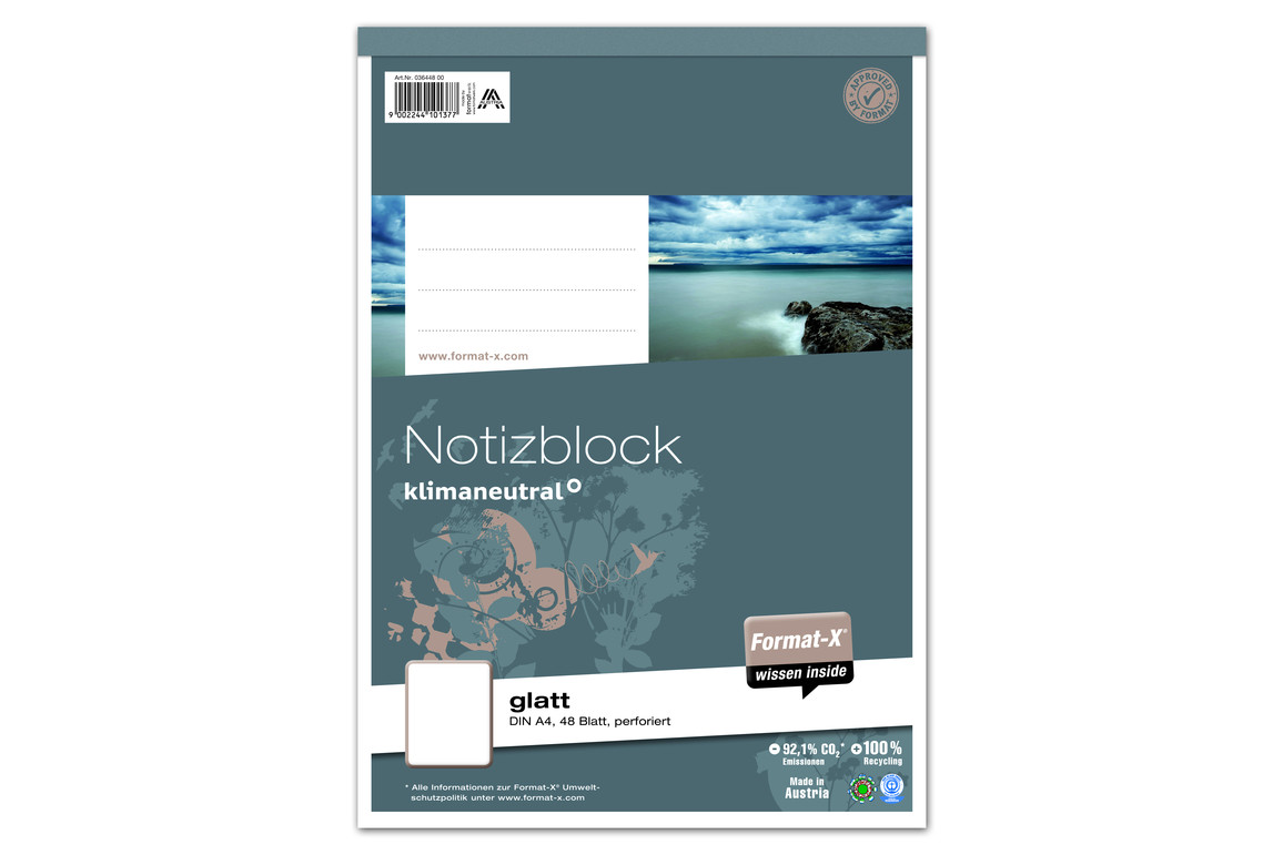 Notizblock A4 48 Blatt 70g/qm glatt, Art.-Nr. 036448-00 - Paterno B2B-Shop