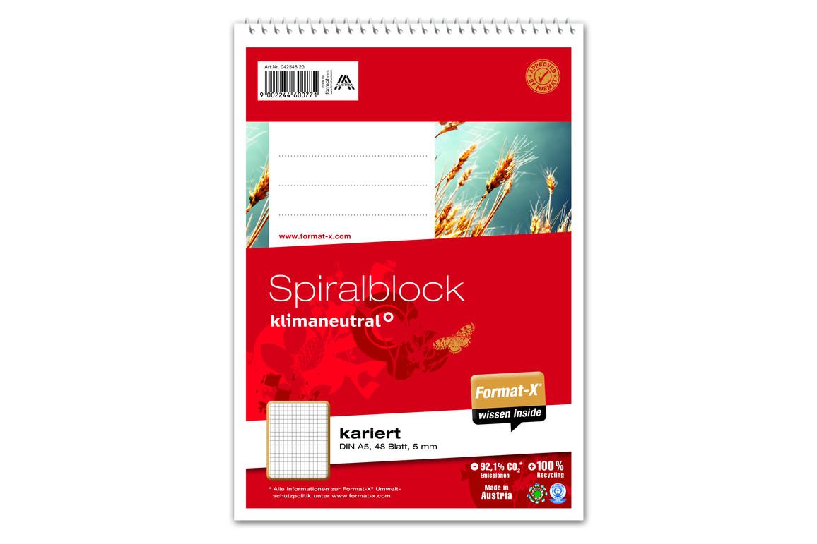 Spiralblock Format X A5 48 Bl. kar., Art.-Nr. 042548-20 - Paterno B2B-Shop