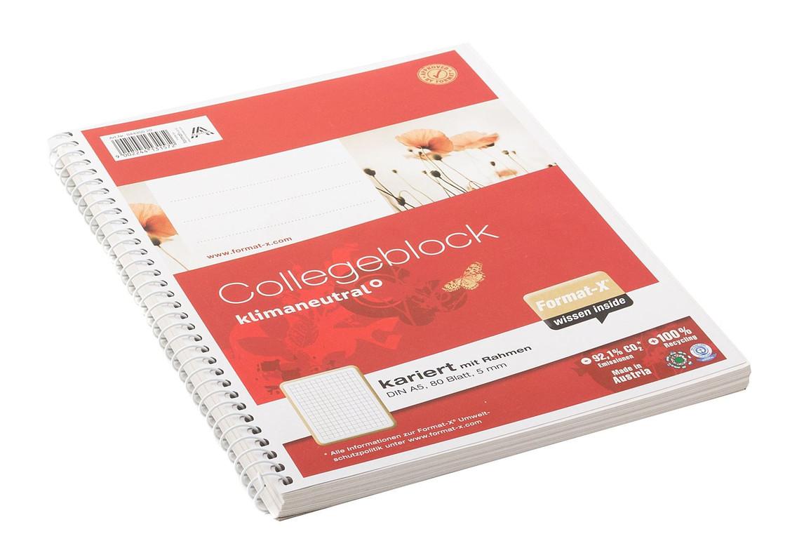 Kollegblock Ursus A5 80 Blatt kariert, Art.-Nr. 044350-20 - Paterno B2B-Shop