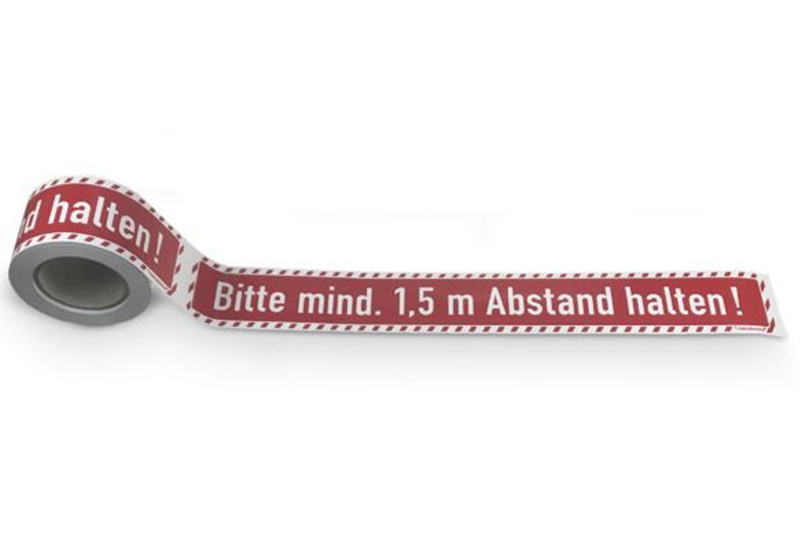 """Bodenmarkierungsband Text """" Bitte Abstand halten 1,5m"""", Art.-Nr. 31.5572 - Paterno B2B-Shop"""