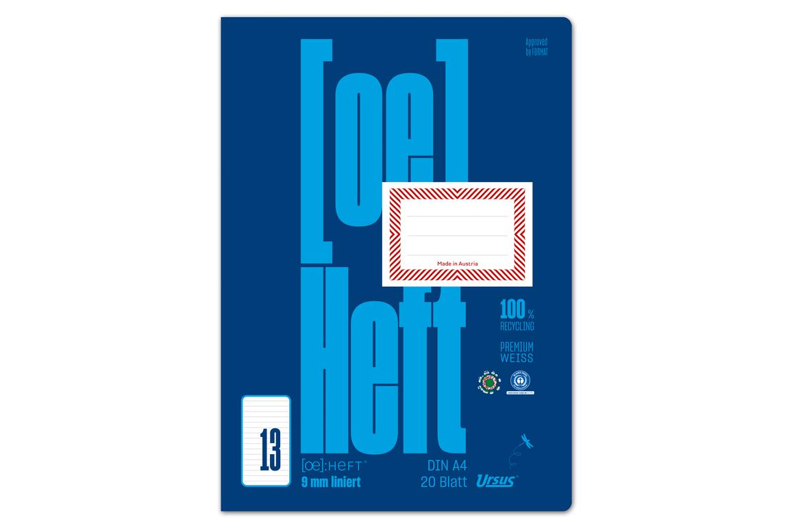 Heft Ursus ÖHeft A4 20 Blatt glatt, Art.-Nr. 0604301-00 - Paterno B2B-Shop