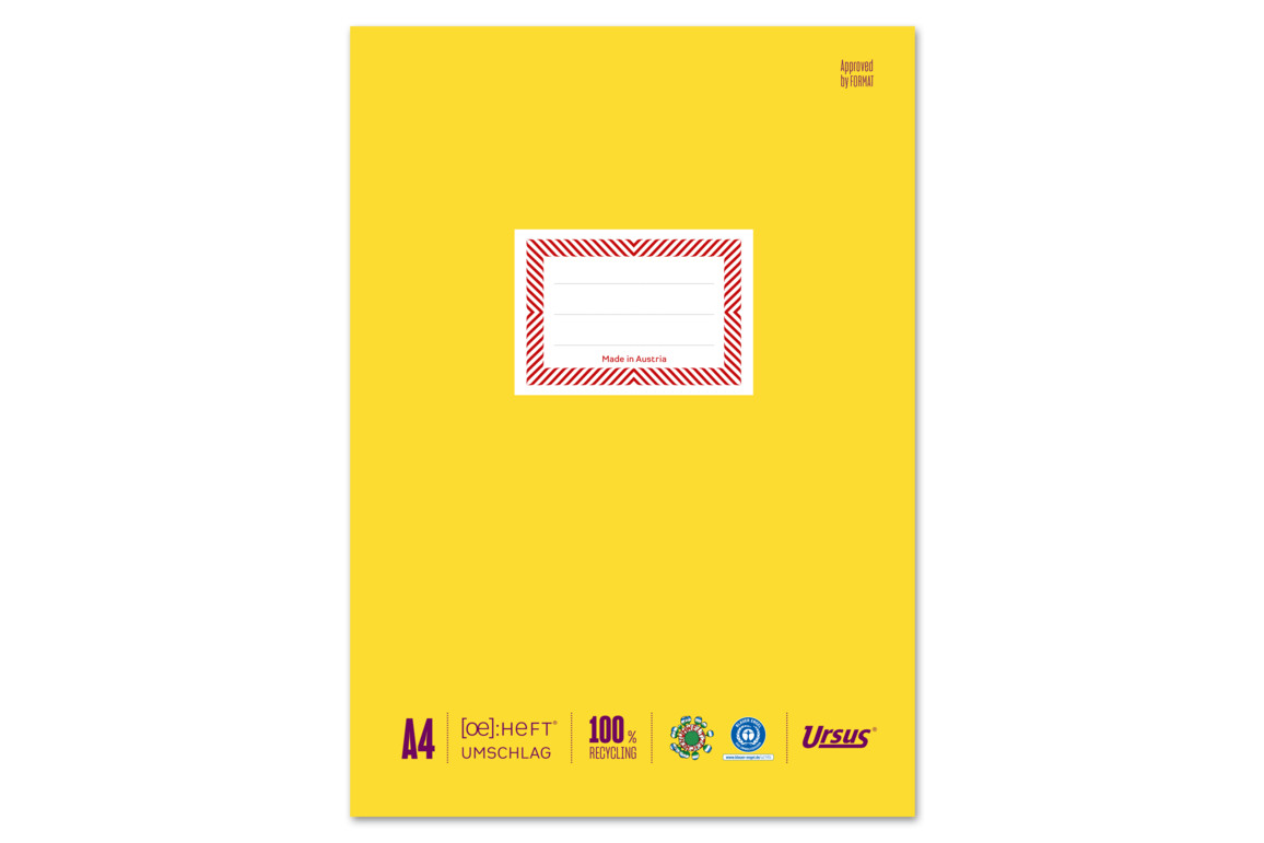Papierheftschoner Ursus A4 gelb, Art.-Nr. 084800F-GE - Paterno B2B-Shop