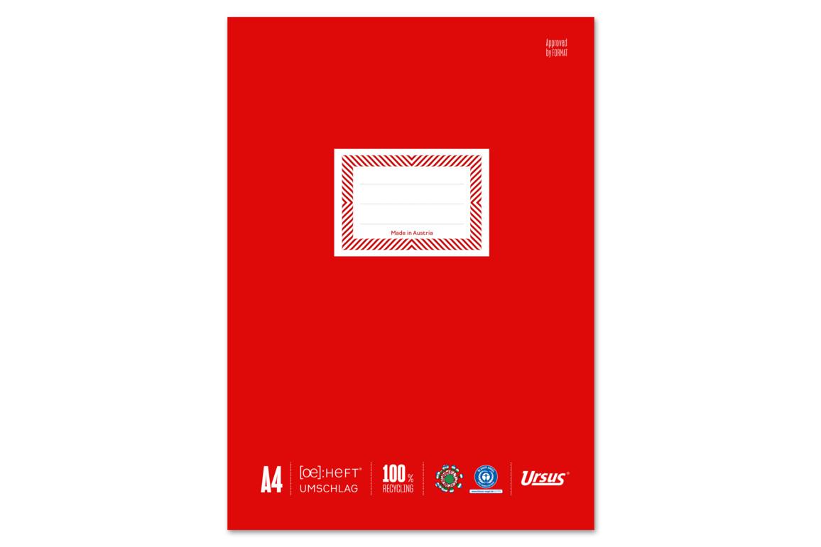 Papierheftschoner Ursus A4 rot, Art.-Nr. 084800F-RT - Paterno B2B-Shop