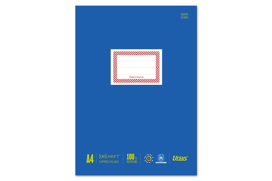 Papierheftschoner Ursus A4 blau, Art.-Nr. 084800F-BL - Paterno B2B-Shop