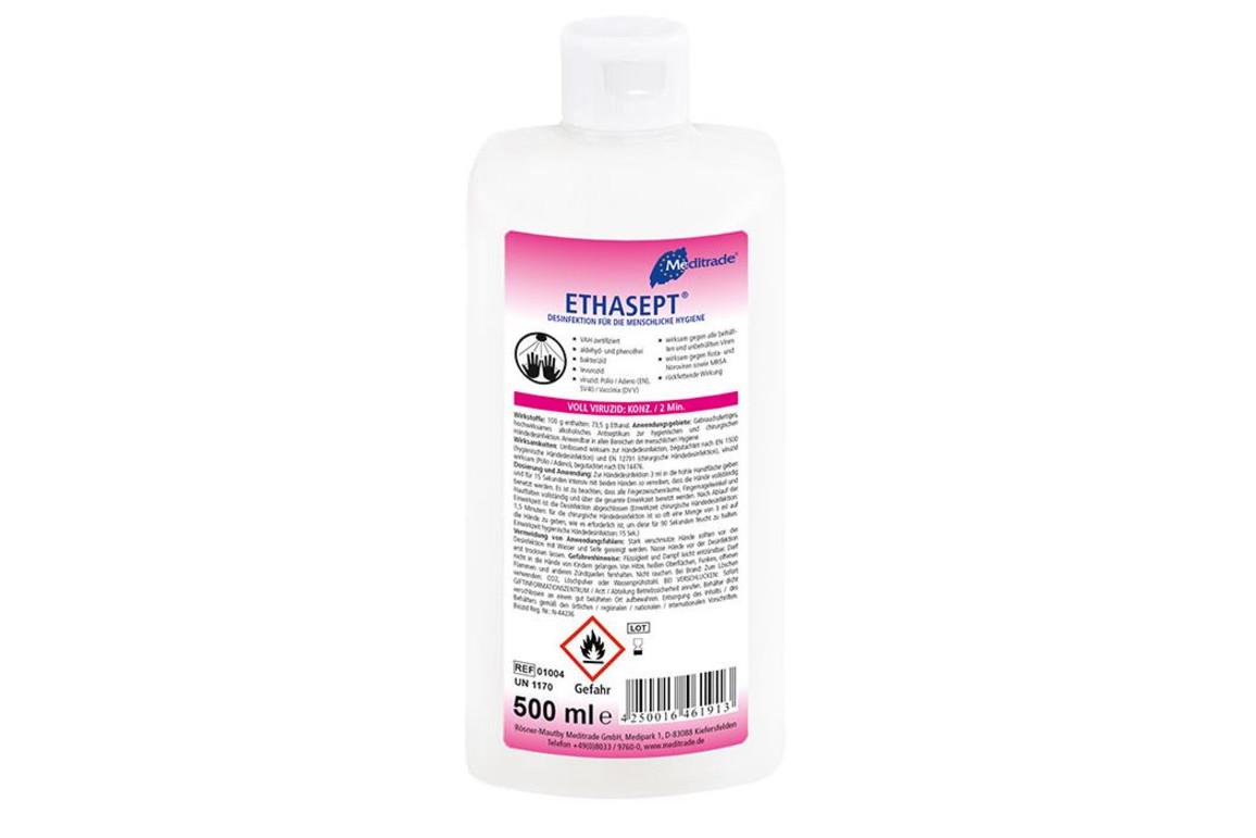Handdesinfektionsmittel Meditrade Ethasept® 500ml, Art.-Nr. 01004 - Paterno B2B-Shop