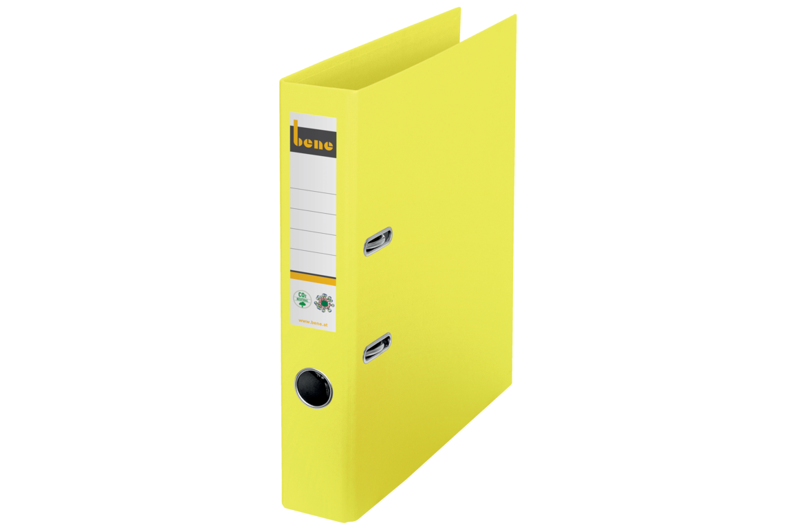 Ordner Bene CO2 neutral schmal gelb, Art.-Nr. 301600-GE - Paterno B2B-Shop