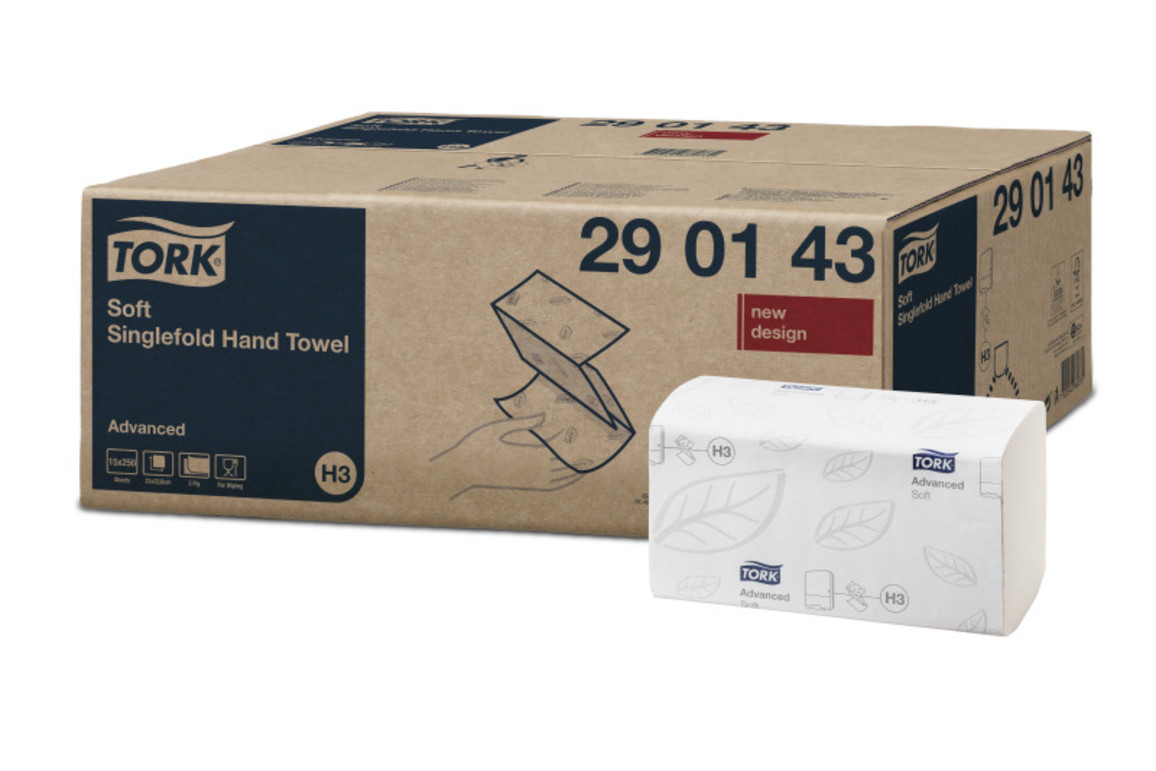 Papierhandtuch Tork 2lg. hochweiss, Art.-Nr. 290163 - Paterno B2B-Shop