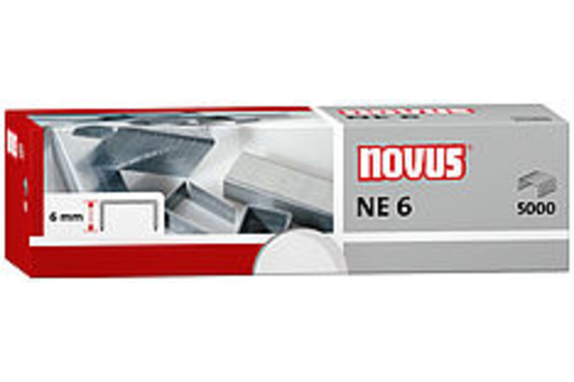 Heftklammern Novus NE 6 verzinkt, Art.-Nr. 0420000 - Paterno B2B-Shop