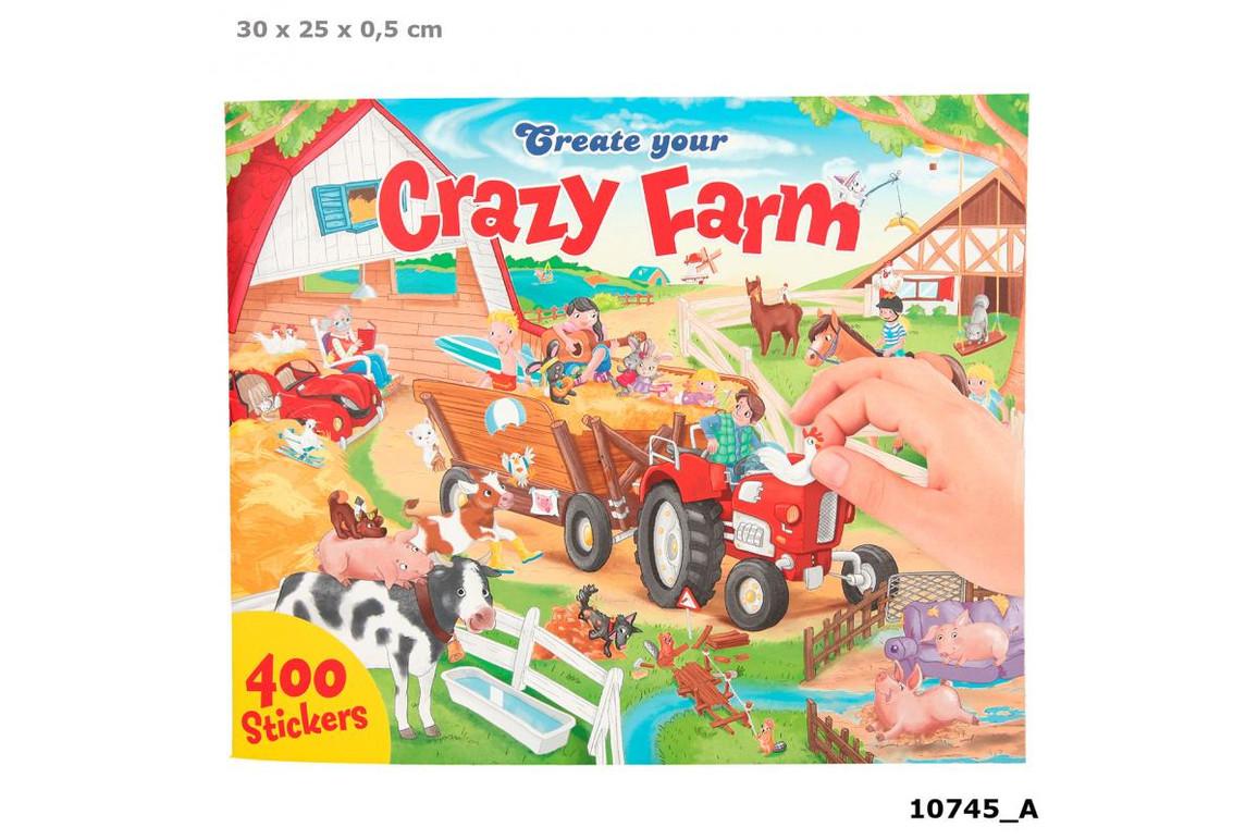 Stickerbuch CREATE YOUR CRAZY FARM, Art.-Nr. 0010745 - Paterno B2B-Shop